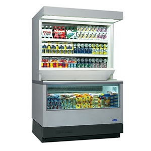 Carrier vertical plug-in chiller and freezer combination