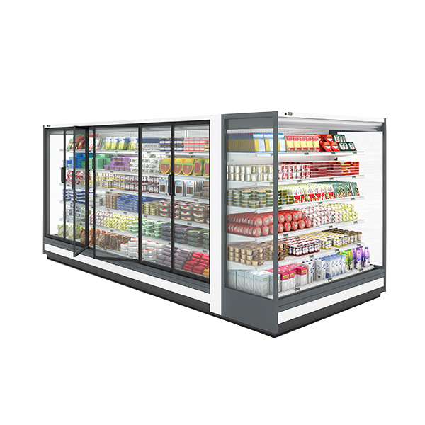 Carrier E6 Methos multideck for supermarkets and small store formats