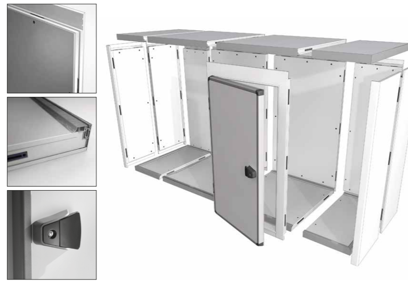 Criocabin Elle System Cold Room Easy Design and Assembly