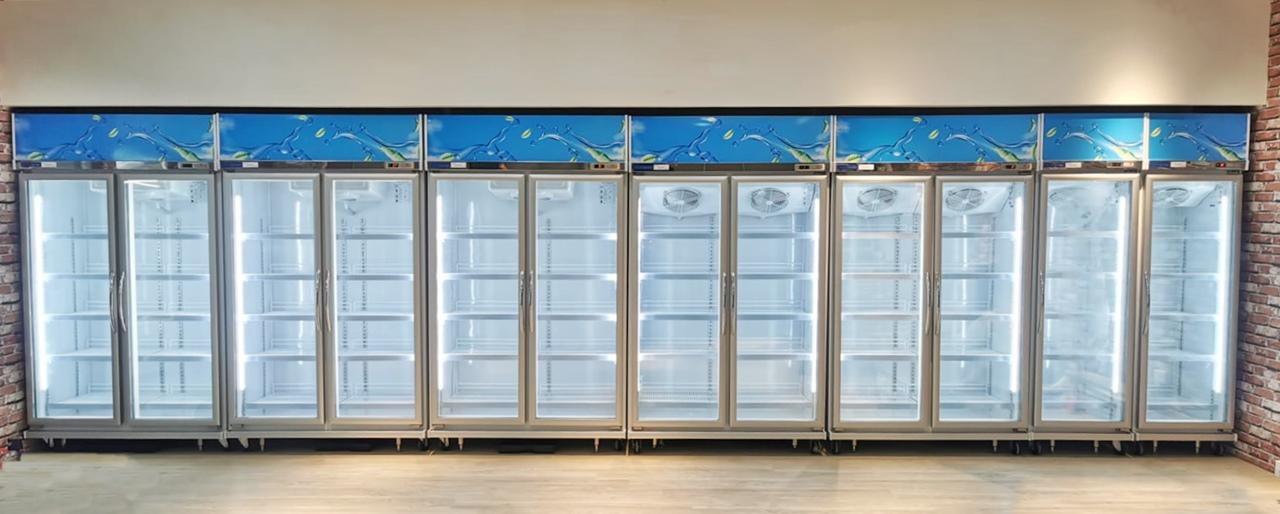 Display Glass Door Chiller and Freezer Installation