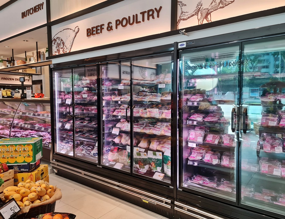 Carrier Door Chiller for Meat at Finest Gourmet Balmoral Plaza