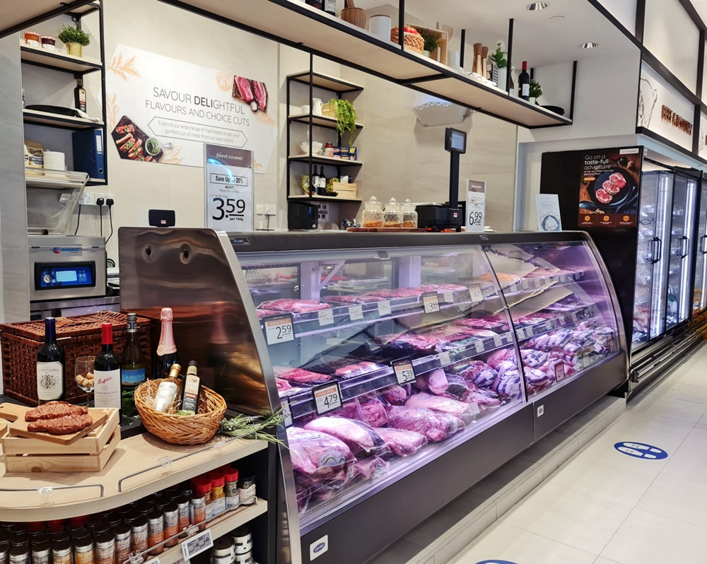 Carrier Meat Service Counter FairPrice Balmoral Plaza 2021_D-Logic Refrigeration