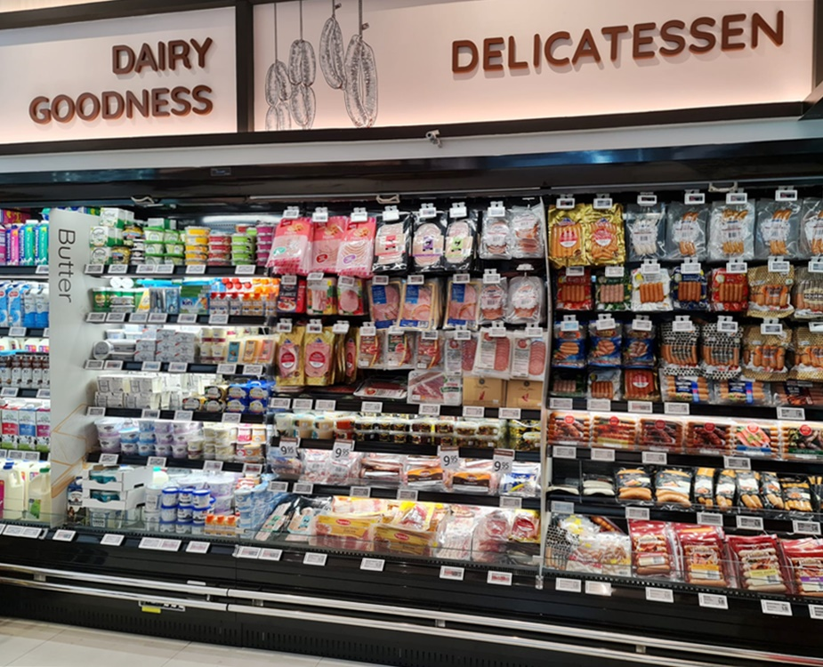 Carrier Open Multideck Cheese Chiller at Finest Gourmet Balmoral Plaza by D-Logic Refrigeration