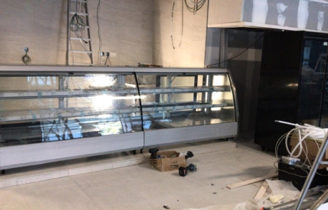 Installation of of Semi Vertical Showcases Finest Gourmet Balmoral Plaza